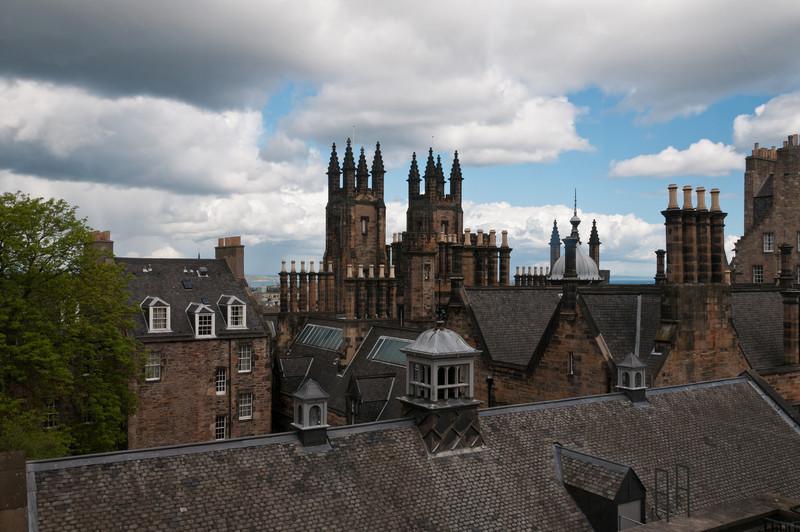 roofs of Edinburgh, Scotland.