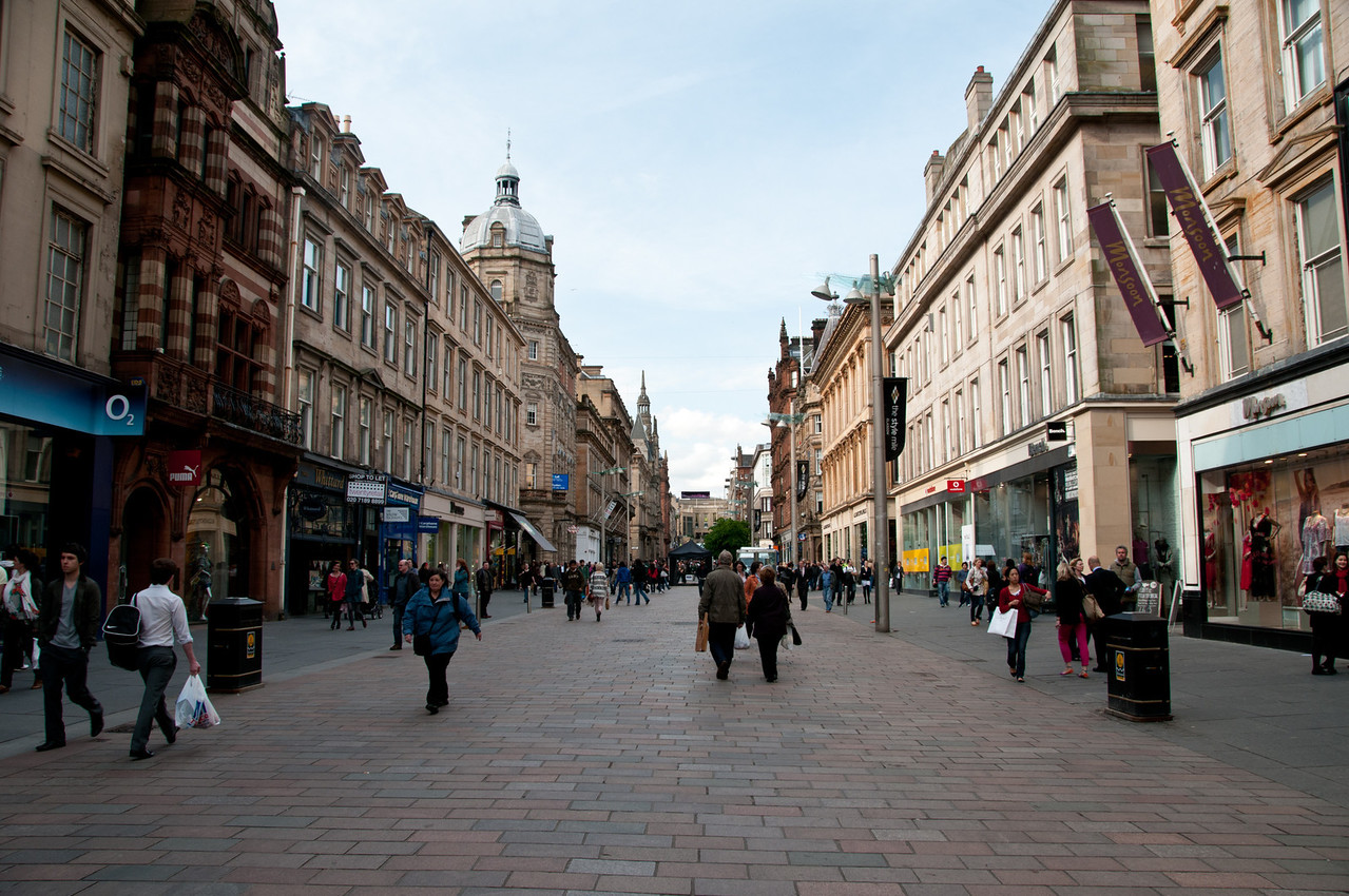 Buchanan Street. Glasgow Scotland.