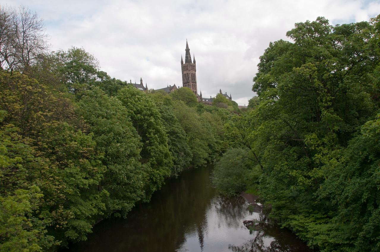 garden just behind the kelvingrove art gallery. Glasgow, Scotland.