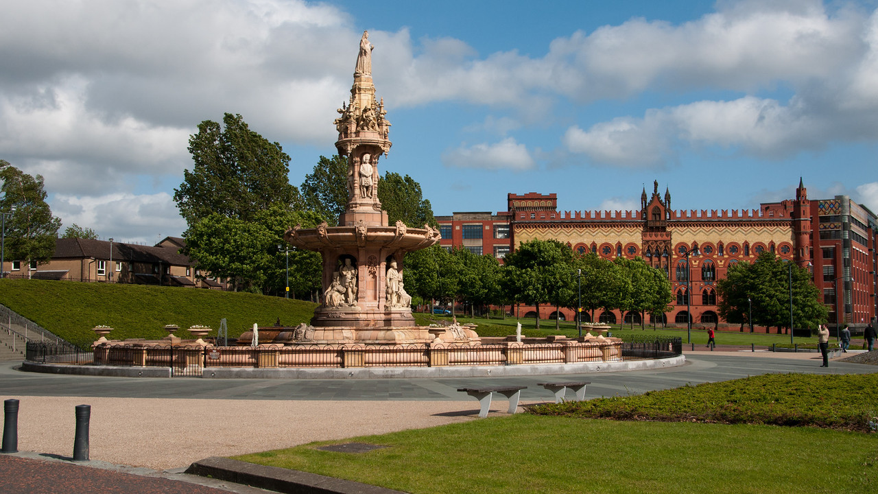 The green, just near the people's palace, Glasgow, Scotland.