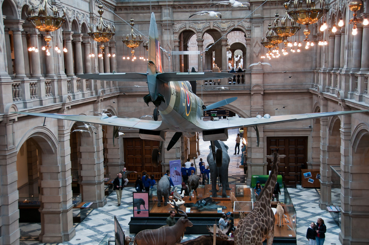 The spitfire (again).<br /> <br /> Kelvingrove art gallery and museum. Glasgow, Scotland.