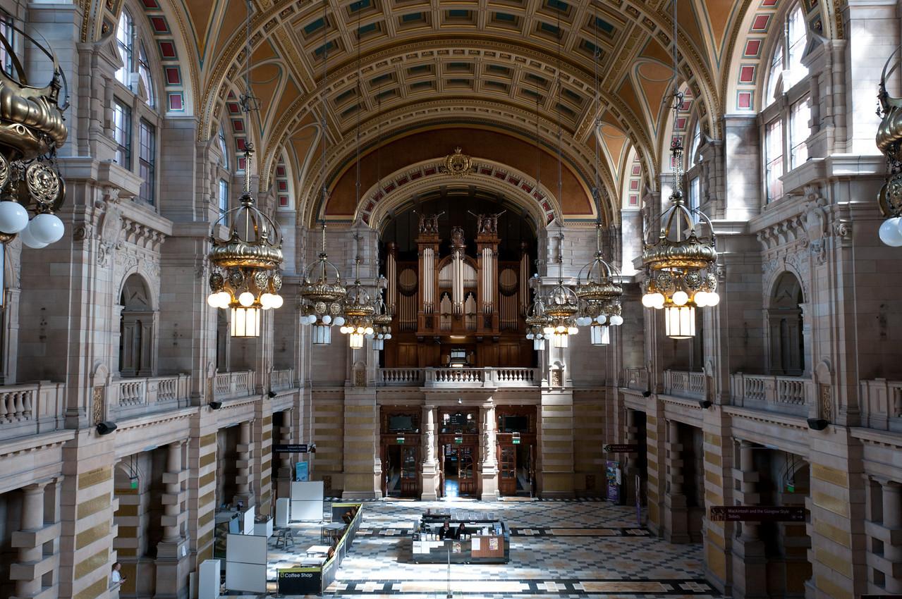 pipe organ. <br /> <br /> Kelvingrove art gallery and museum, Glasgow Scotland.