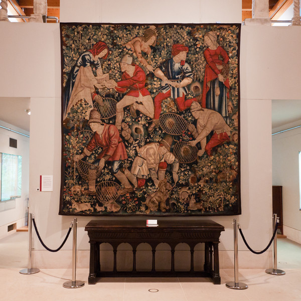 Just a small sample of the tapestries of the Burrell Collection. Glasgow, Scotland.