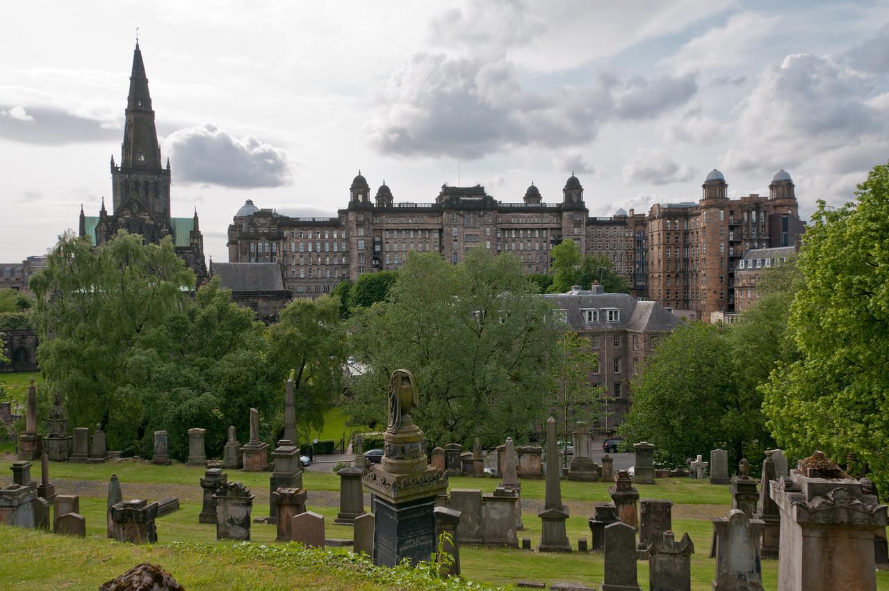 Glasgow Necropolis, and the cathedral. Glasgow, Scotland.