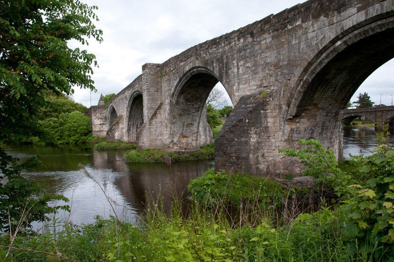 "Stirling ""old bridge"" (15th century). Stirling Scotland."