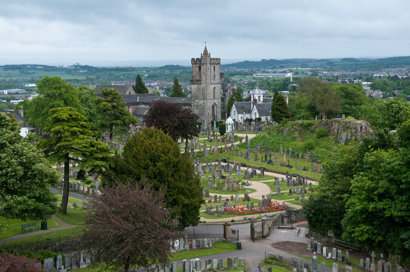 Graveyard, near Stirling castle. Stirling Scotland.