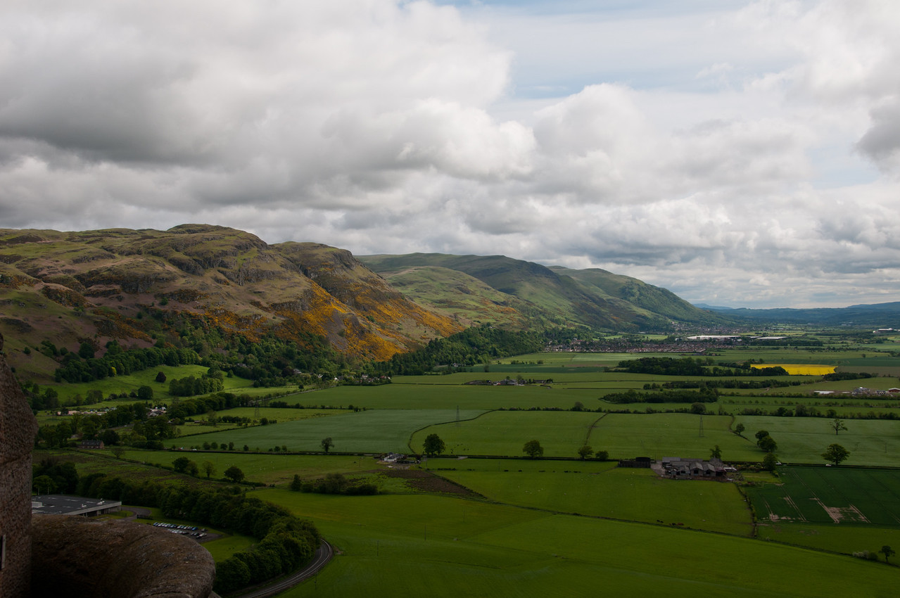 view from the wallace monument, Stirling, Scotland.