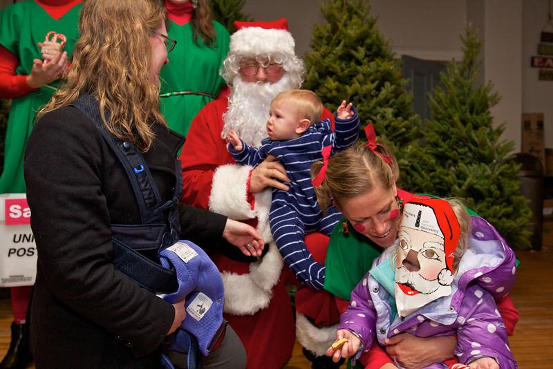 Clara & Kieran Meet Santa 2012