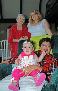 Great Grand Memaw and GBG Kids - Cecily, Tristan & Izabella