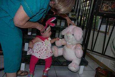 Izabella meet Mr. Bunny....