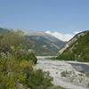 Vue de la vallée dans laquelle coule le VAR, les Gorges de DALUIS