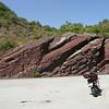 Le roc rouge des Gorges de DALUIS