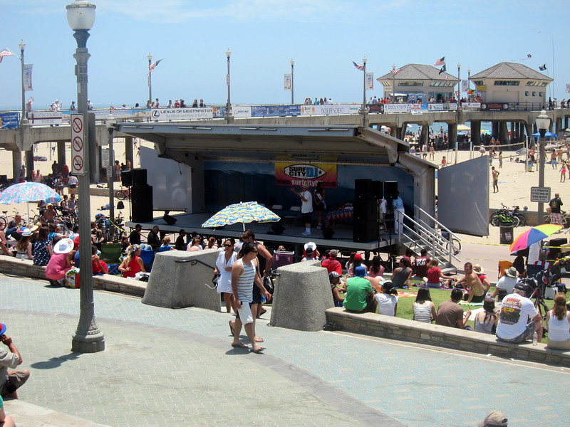 Live entertainment at the pier