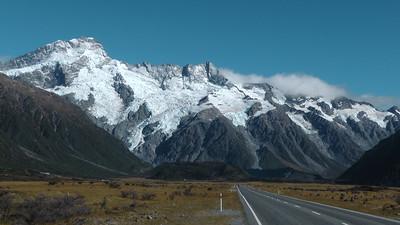 Op weg naar Mount Cook
