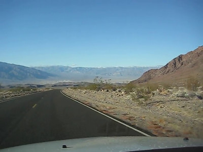The road from Beatty to Death Valley.