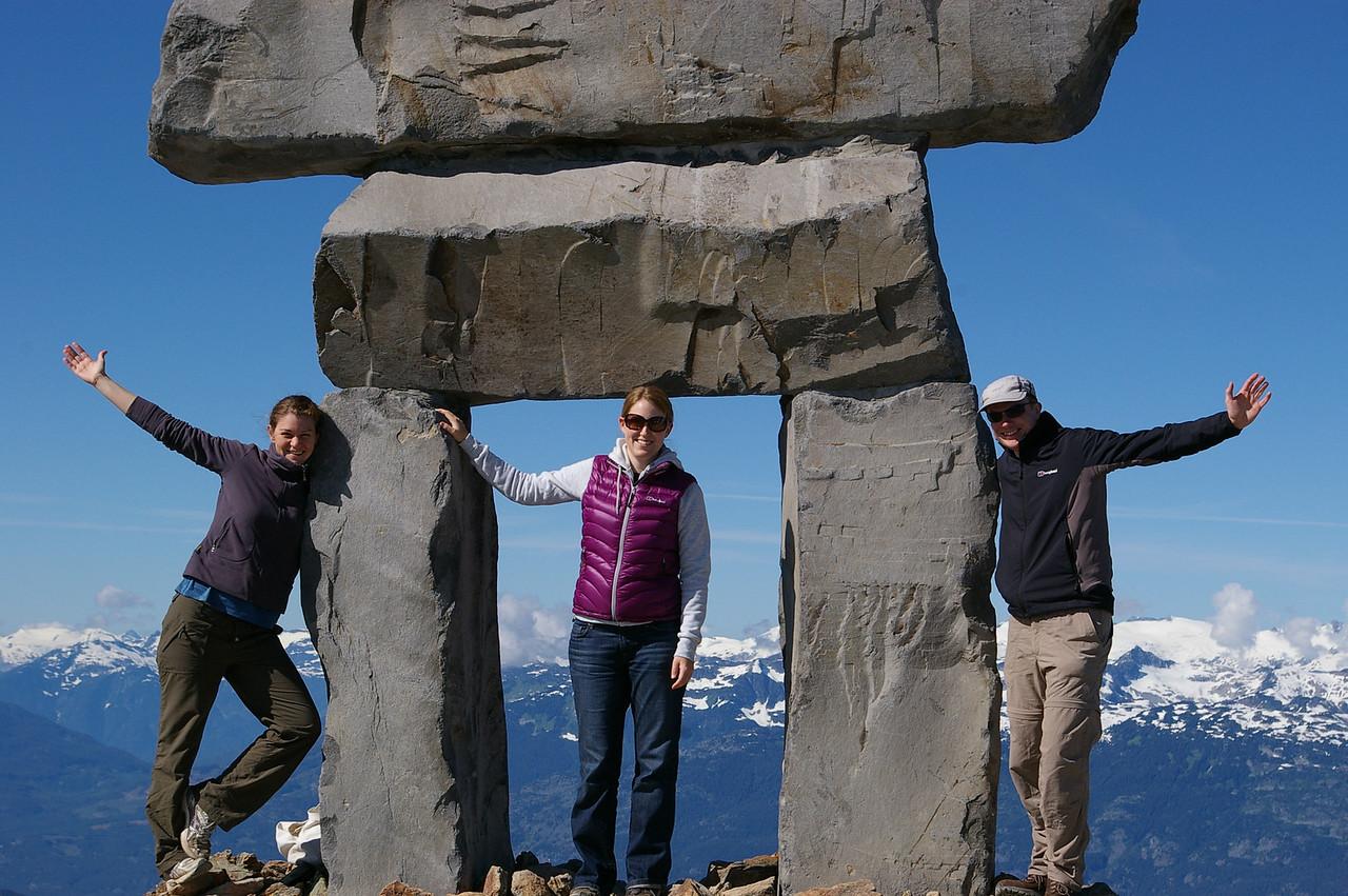 Inuksuk on top of Whistler peak