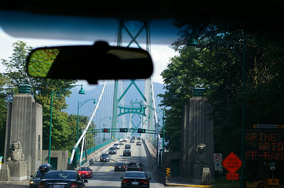 Lion's Gate Bridge - driving to Whistler from Vancouver