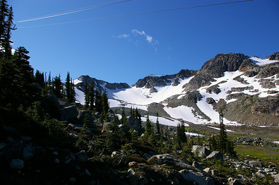 View from gondola station on Whistler peak