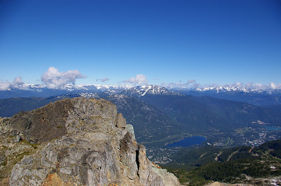 View from top of Whistler peak