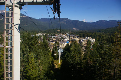 In gondola going up Whistler peak
