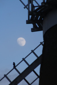 Moon with windmill