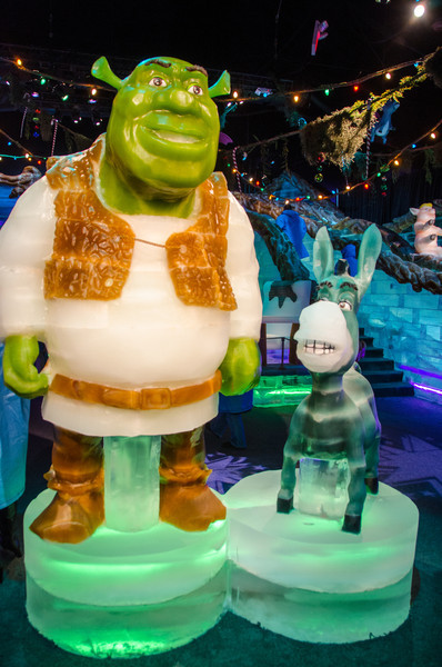 Shreck and Donkey in ICE Shreck and Donkey in ICE at the Gaylord National