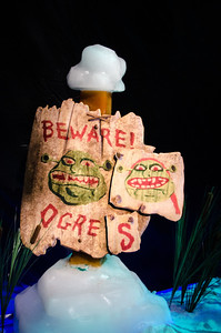 Beware of Ogres Ogres warning sign before entering ICE at the Gaylord National.