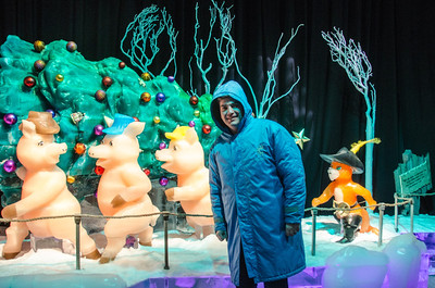 Donnie and Three Little Pigs Donnie with Three Little Pigs at ICE at Gaylord National