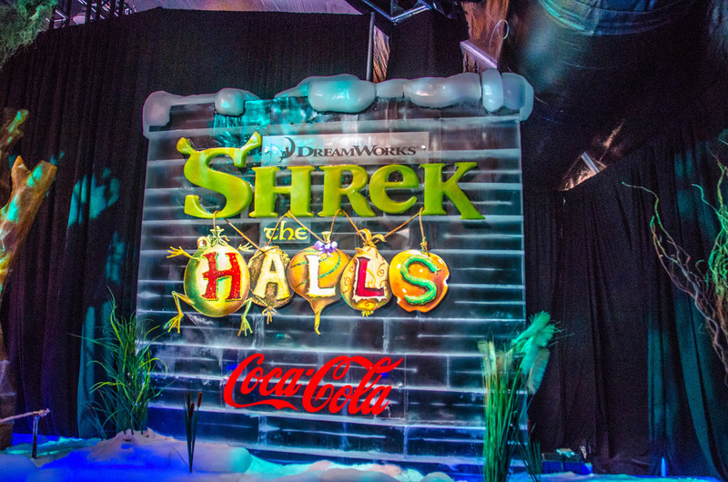 Shreck the Halls ICE Sign Shreck the Halls sign in the first room of ICE at the Gaylord National.