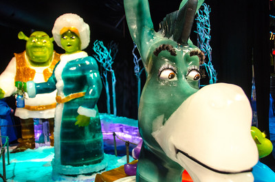 Donkey, Shreck and Princess Fiona in ICE Donkey, Shreck and Princess Fiona in ICE at the Gaylord National