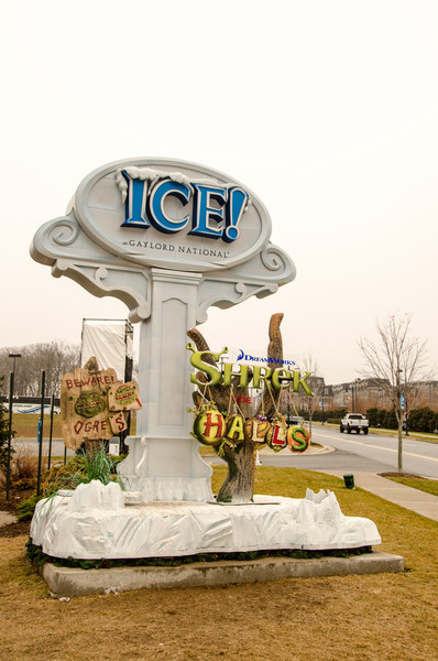 ICE Sign Sign at the entrance of ICE at the Gaylord National.