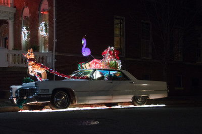 Santa's Cadillac Santa's Cadillac at Strawberry Street and Monument Avenue in Richmond, VA