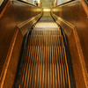 1 very old wooden escalator in Macy's