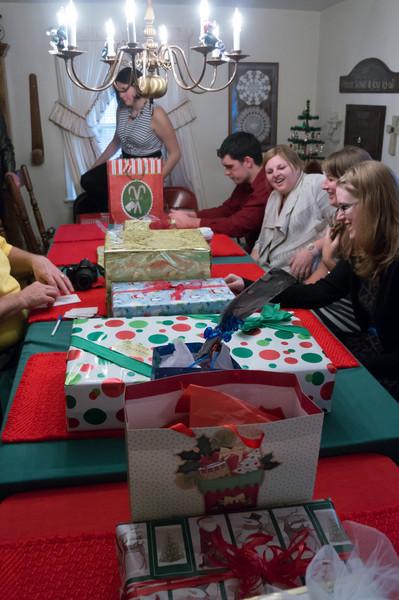 Gift exchange at baba's...