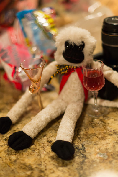 Rally monkey with the other homemade mead.