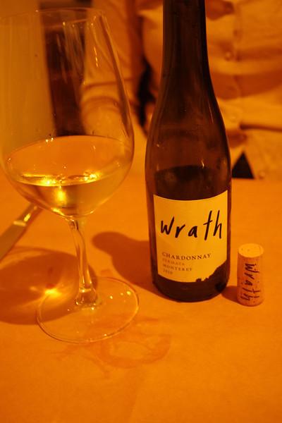 Wine at dinner - PassionFish - Monterey