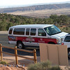 This was the people mover used for our visit to Arches. We were lucky that there was only 5 people in the party which allowed us plenty of time to explore the area