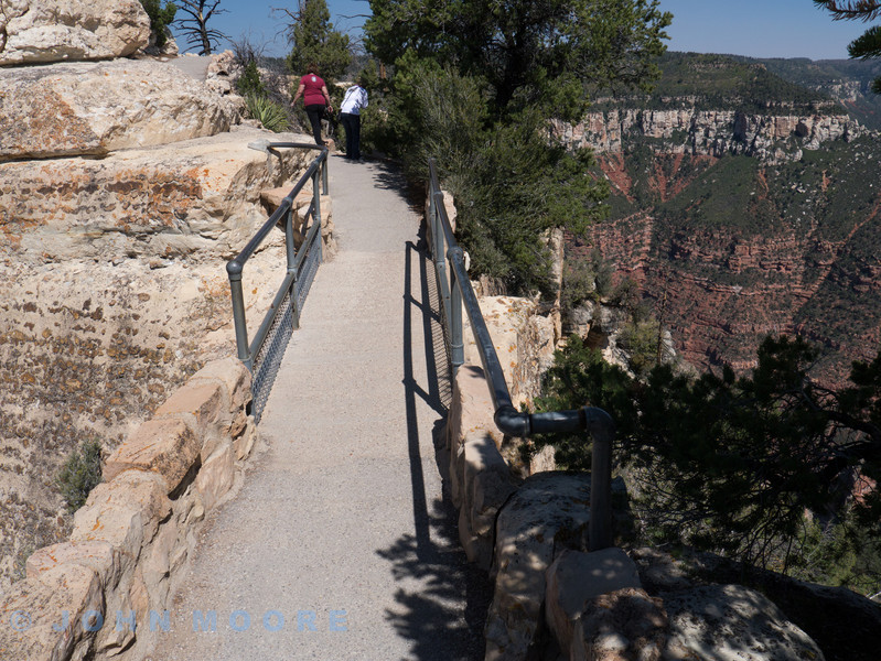This was the walkway to Angel's Point -- shear on either side and steep. A little difficult for me but with determination and J's help I made it to the end and stood and looked at the amazing view