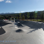 Beautiful skate park and public park