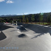 Beautiful skate park and public park