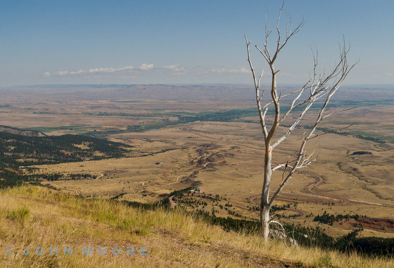 Looking east form Bighorn Forest across the South Dakota Plains - Fantastic views