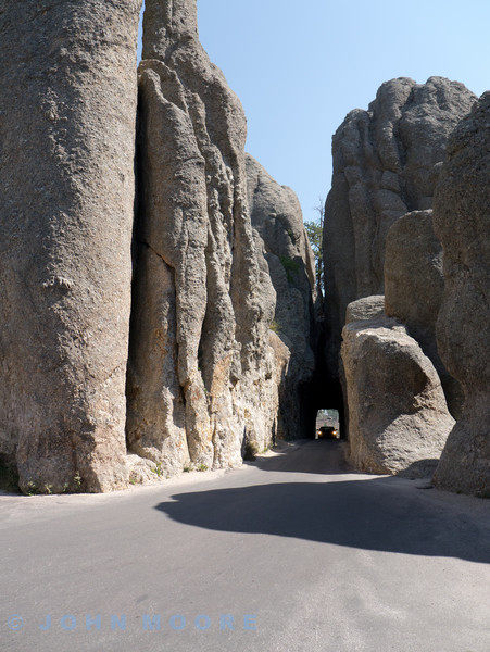 Views of Needles highway not far from Mount Rushmore