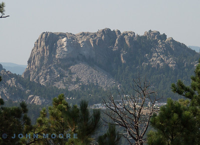 Mount Rushmore fro Needles Higway