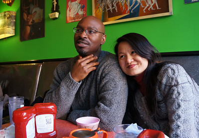 February 2012. Sunday brunch at The Friendly Toast in Kendall Square (Cambridge, MA) with our good friends, John Franklin and Chen Jianchen.