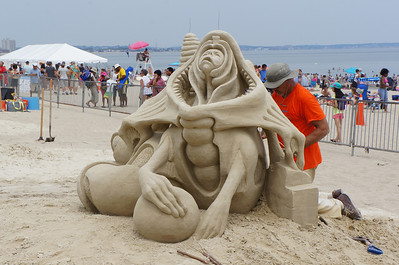 July 2012. The annual sandcastle contest at Revere Beach, MA, 20 minutes from our house.