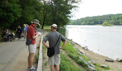 August 2012. Matt and his brother Stuart take a break along the edge of Walden Pond. THE Walden Pond. Yes, that one. The one from the book.