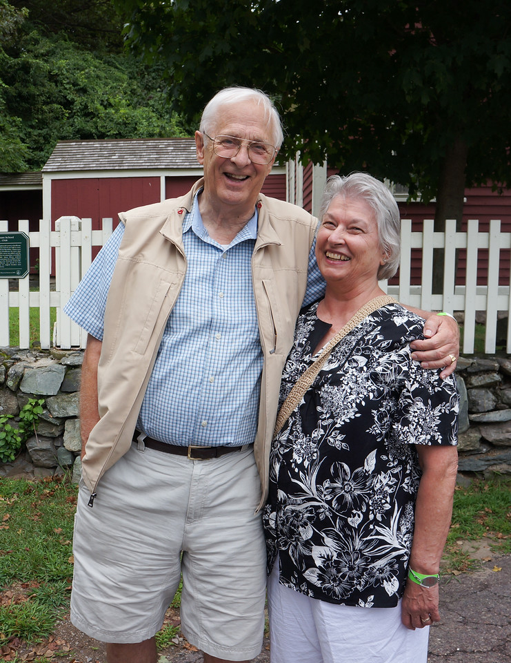 August 2012. Matt's stepdad, Wayne, and his mother Barbara outside the Larz Anderson Auto Museum.