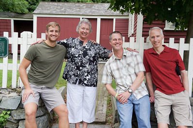 August 2012. Matt's nephew, Ryan, his mom, Barbara, Matt and his brother Stuart at the Larz Anderson Auto Museum in Boston.