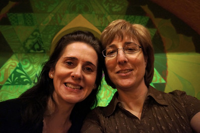 March 2012. Carol (Karen's business partner) and Karen having a  celebratory lunch for Karen's birthday at Live Alive in Cambridge.