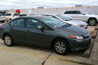 August 2012. Time for a trade in. We sat down and did the math. The old Honda was costing us more in repairs than a new car so we took the plunge. Nothing fancy, but she gets me around town with decent gas mileage.